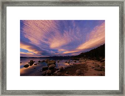 Love Is A Rocky Road Framed Print by Sean Sarsfield