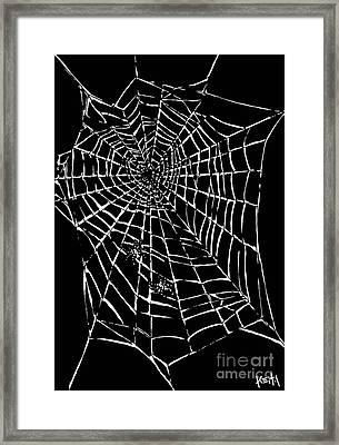 Love Is A Tangled Web Framed Print by Turtle Caps