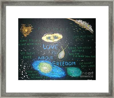 Love Is About Freedom  Framed Print by Piercarla Garusi