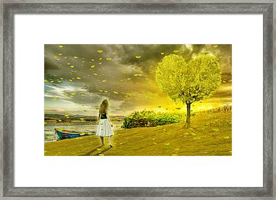 Love Is All Around Us And So The Feeling Grows Framed Print