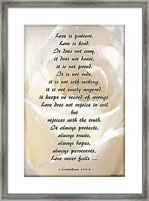 Love Is ... Framed Print by Angelica -Gel Studios