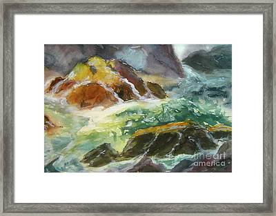 Love Is Cruel Amidst The Raging Sea Framed Print