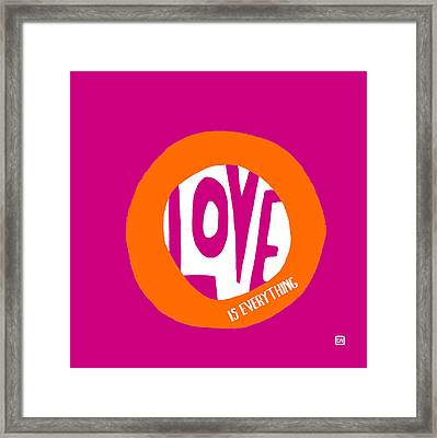 Framed Print featuring the painting Love Is Everything by Lisa Weedn