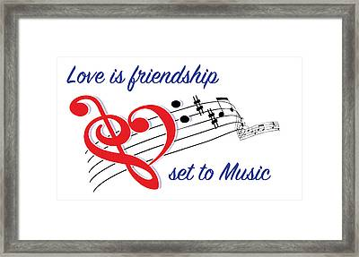 Love Is Friendship Framed Print by Greg Joens