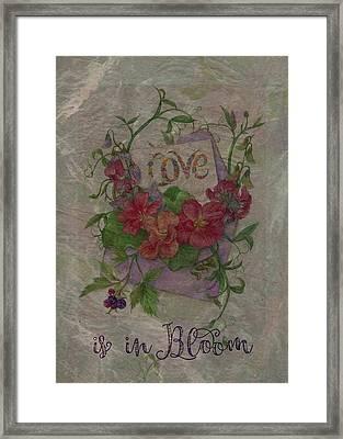 Love Is In Bloom Botanical Framed Print