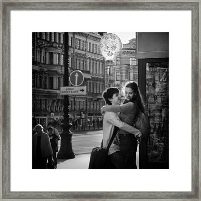 Love Is In The Air Framed Print by Bj Yang