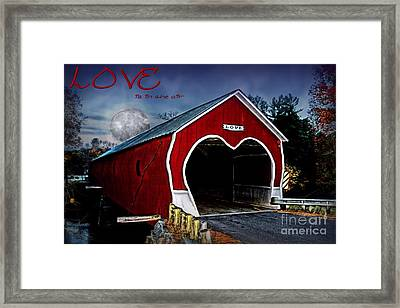 Framed Print featuring the photograph Love Is In The Air by DJ Florek