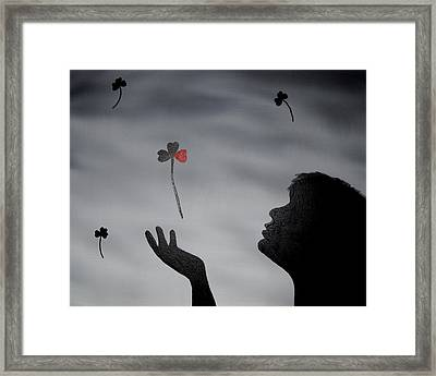 Framed Print featuring the painting Love Is In The Air by Edwin Alverio