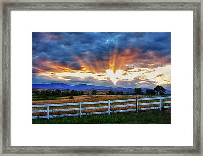 Framed Print featuring the photograph Love Is In The Air by James BO Insogna