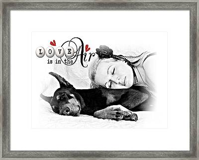 Framed Print featuring the digital art Love Is In The Air by Kathy Tarochione