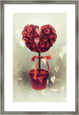 Framed Print featuring the digital art Love Is In The Air by Lois Bryan