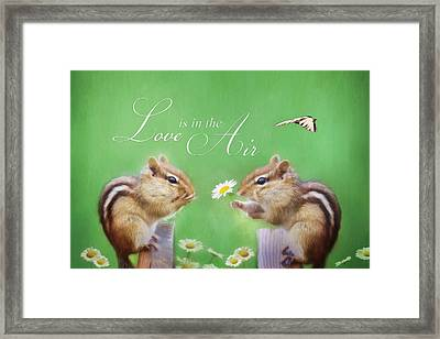 Love Is In The Air Framed Print by Lori Deiter