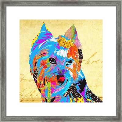 Love Is In The Dog's Eyes  Framed Print