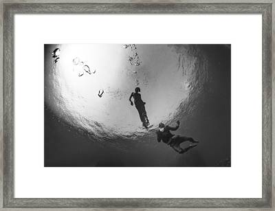 Love Is In The Water 3 Framed Print by Adolfo Maciocco