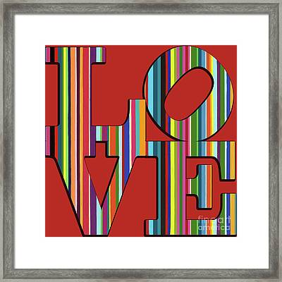 Framed Print featuring the mixed media Love Is Love by Carla Bank