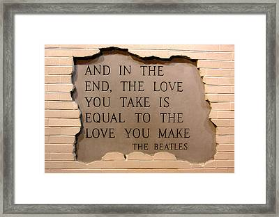 Framed Print featuring the photograph Love Is Love by Juergen Weiss