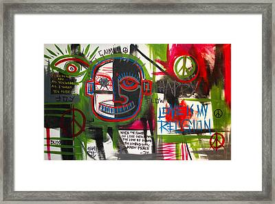 Love Is My Religion Framed Print by Wall  Street