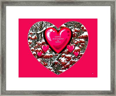 Framed Print featuring the digital art Love Is Patient And Kind by Will Borden