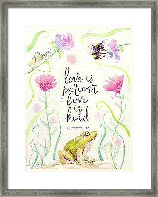 Love Is Patient Framed Print by Susan Jenkins