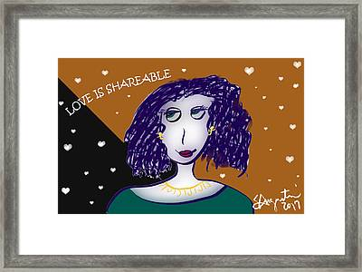 Love Is Shareable Framed Print