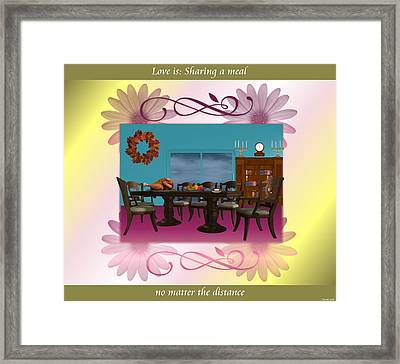 Love Is  Sharing A Meal Framed Print by Morning Dew