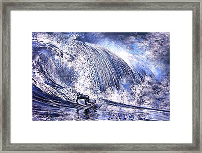 Love Is The Seventh Wave Framed Print by Miki De Goodaboom