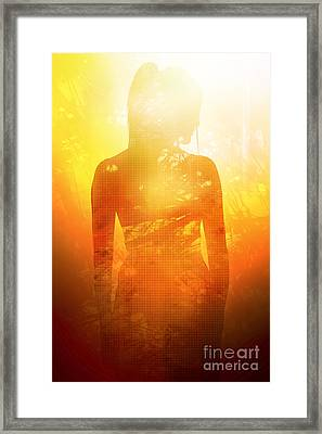 Love Is The Truth. Light Is The Way Framed Print