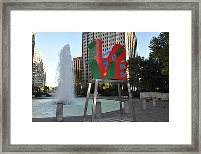 Love Is The Word Framed Print by Bill Cannon
