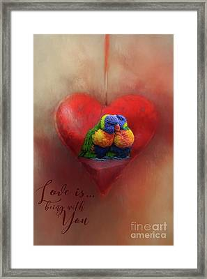 Love Is...being With You Framed Print