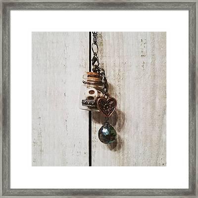'love Jitters' 💘💀#vial #pendant Framed Print