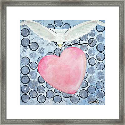 The Blessing Of The Dove Framed Print