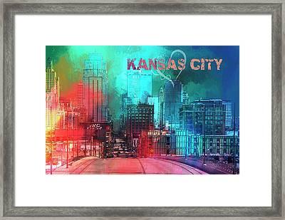 Love Kansas City Framed Print