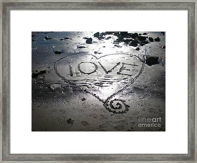 Love Framed Print by Kim Prowse