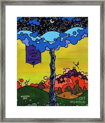 Love Knows No Bounds Framed Print by Dan Keough