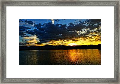 Framed Print featuring the photograph Love Lake by Eric Dee