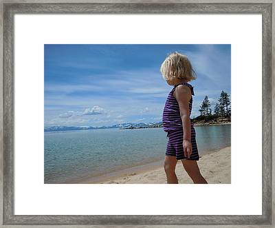 Framed Print featuring the photograph Love Lake Tahoe by Dan Whittemore