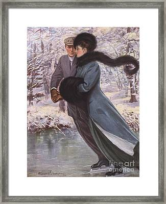 Love Laughs At Winter Framed Print