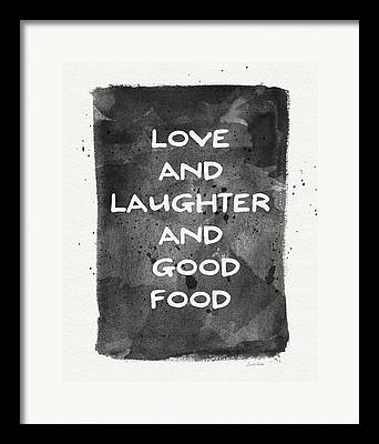Laughter Mixed Media Framed Prints