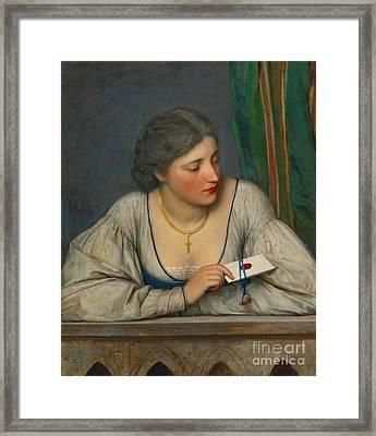 Love Letter 1884 Framed Print by Padre Art