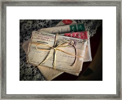 Love Letters Framed Print by June Marie Sobrito