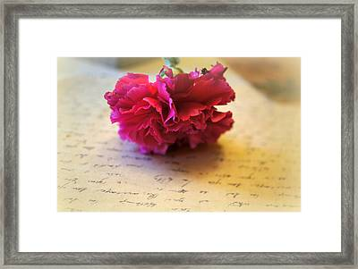 Love Letters Straight From The Heart Framed Print by Kathy Bucari