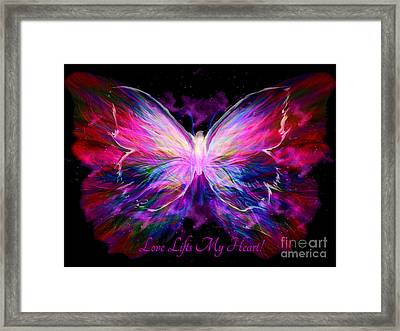 Love Lifts My Heart Framed Print