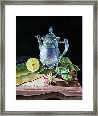 Love Light Lemon Framed Print by Irina Sztukowski