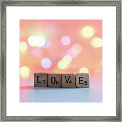 Love Lights Square Framed Print by Terry DeLuco
