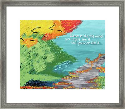 Love Like The Wind Framed Print by Cyrionna The Cyerial Artist