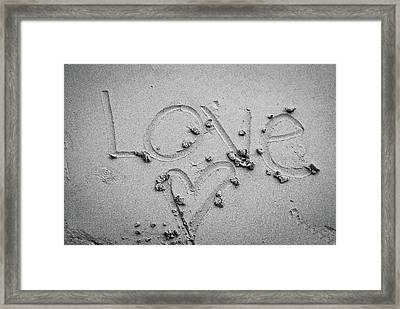 Love Framed Print by Lillian Michi Adams