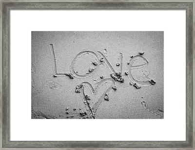 Love Framed Print by Lillian Michi Adams