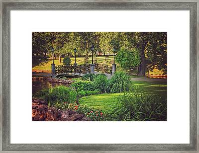 Love Lock Bridge Riga  Framed Print by Carol Japp