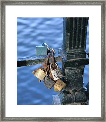 Love Lock Framed Print