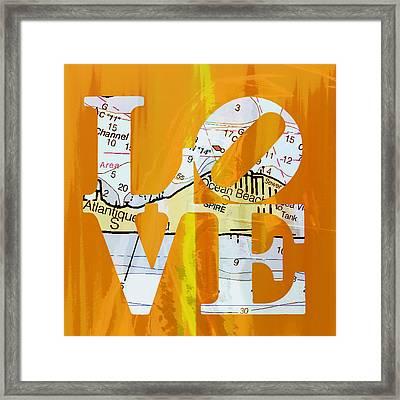 Love Long Island V1 Framed Print by Brandi Fitzgerald